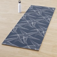 Starfish Navy Blue Beach Yoga Mat