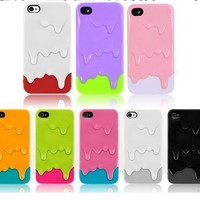 New 3D Melt ice-Cream Hard Case Skin Cover for iPhone 4 4G 4S
