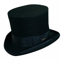 "Scala Wool Felt Mad Hatter 7"" Top Hat"