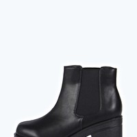 Kris Cleated Elastic Insert Pull On Ankle Boot