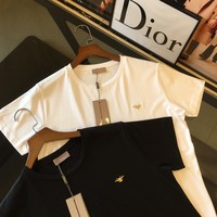 Dior 2019 new embroidered bee men's casual round neck shirt T-shirt