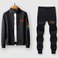 Boys & Men Balenciaga Casual Edgy Cardigan Jacket Coat Pants Trousers Set Two-Piece