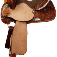 Saddles Tack Horse Supplies - ChickSaddlery.com Double T Barrel Saddle With Turquoise Stone Conchos