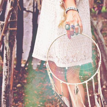 12 inch Zodiac  Dream Catcher ...  personalized for you or your loved one // 10 inch diameter