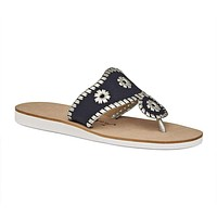 Captiva Sandal in Midnight & Silver by Jack Rogers