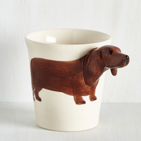 Quirky Yappy Hour Mug in Dachsund by ModCloth