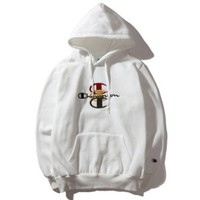 DCCKB62 Champion Women Men  Fashion Casual Embroider Pullover Long Sleeve Hoodie Sweater G