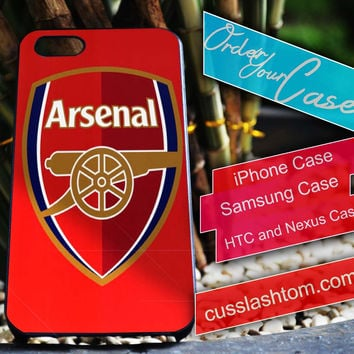 Exclusive Arsenal iPhone for 4 5 5c 6 Plus Case, Samsung Galaxy for S3 S4 S5 Note 3 4 Case, iPod for 4 5 Case, HtC One M7 M8