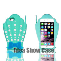 Mermaid Shell 3D Soft Phone Case for iPhone 5, 5s, 6, 6 Plus