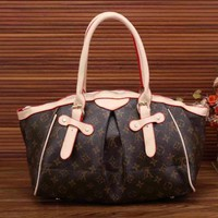 LV Women Shopping Leather Multicolor Tote Handbag Shoulder Bag I-LLBPFSH Tagre™