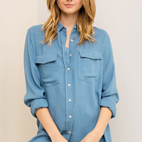 Not Your Everyday Chambray Top