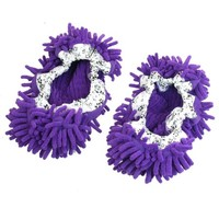 Dust Floor Cleaning Purple Microfiber Stretchy Cuff Foot Mop Slippers Shoes 2pcs - Walmart.com