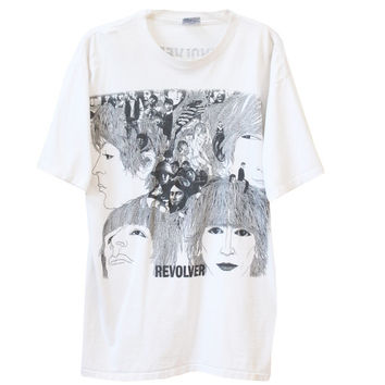 Vintage RARE Revolver The Beatles T-Shirt | Adult Size XL Extra Large | 1990s Re-Release Album, The Complete Series Club
