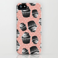 VINTAGE CUPCAKES 2 iPhone & iPod Case by Allyson Johnson