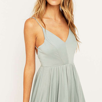 Silence + Noise Vanessa Blue Playsuit - Urban Outfitters