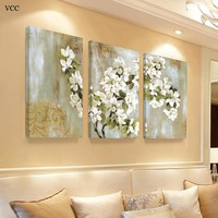 VCC Paintings On The Wall Art Canvas Painting Poster Cuadros Dencoracion Wall Pictures For Livig Room Flower Picture Unframed