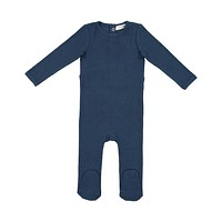Lil Leggs Unisex-Baby Navy Ribbed Stretchie