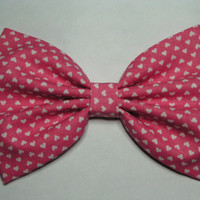 Pink hearts Hair Bow ,  Valentines,Blue hair bow , Hair Bow for teens and women, Kids hair bows