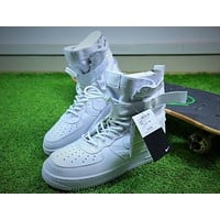 Nike Special Forces Air Force 1 SF AF1 Boots All White Shoes Sneaker