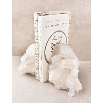 Clear Quartz Crystal Bookends -  One Of A Kind