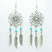 Vintage Dream Catcher Drop Dangle Earring
