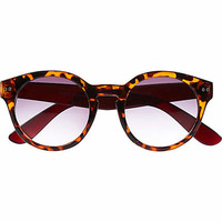 BROWN TORTOISE SHELL ROUND SUNGLASSES