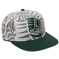 Snapback Hat with Bear and Claw designed by Paul Windsor, Haisla, Heiltsuk