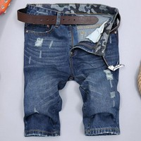 Ripped Holes Pants Slim Jeans [6541767427]