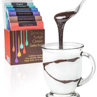 Drinking Fudge: Selection of luxuriously flavored cocoa mixes.
