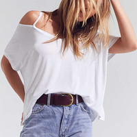 Silence + Noise Split-Cut Cold Shoulder Tee - Urban Outfitters