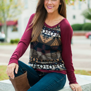 By The Fire Sweater, Burgundy