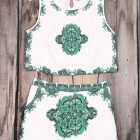 Cupshe My Heart's Singing Sleeveless Matching Set