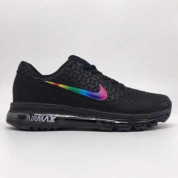 Nike Air Max New Fashion Multicolor Hook Running Leisure Sports Shoes Men Black