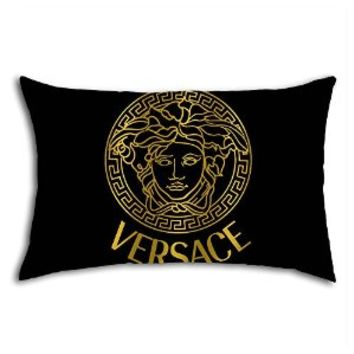 Black Gold Versace Logo Design for Pillow Case (20 X 30 Inches (One Side))