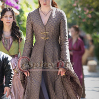 Custom Made Sansa Stark Game of Thrones Vintage Medieval Deluxe Dress Halloween Costumes For Adult Women Cosplay Costume