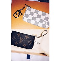 Louis Vuitton Stylish Boys Girls Chic Key Pouch Clutch Bag Coin Purse Small Wallet