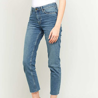 BDG Axyl Mid Blue Cropped Slim Straight Jeans - Urban Outfitters