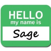 Sage Hello My Name Is Mouse Pad