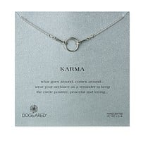 Dogeared - Original Karma Necklace in Sterling Silver (16in & 18in)