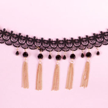 Handmade Fashion Party Lace Necklace Clavicle Chain Gothic Victorian Style