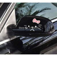 Aliauto 2 x Funny Hello Kitty Car Rearview Mirror Stickers And Decal Accessories for Toyota Ford Volkswagen Honda Hyundai Golf
