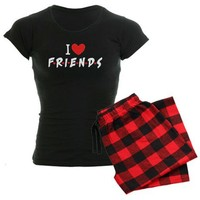 I heart Friends TV Show Pajamas on CafePress.com
