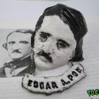 Edgar Allan Poe jewelry gothic brooch  goth jewelry the raven nevermore victorian gothic  writer  gift   literary jewelry gothic jewelry