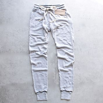 Final Sale - Project Social T - Big Sur Jogger in Mineral Wash Stone & Black