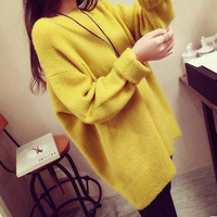 Free Shipping 2016 European and American fashion 2016 winter new e long-sleeved pullover sweater large size  women MTQ046