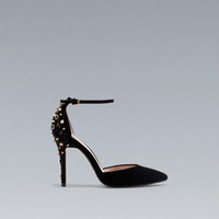STUDDED VAMP HEEL AND ANKLE STRAP - Woman - New this week - ZARA United States