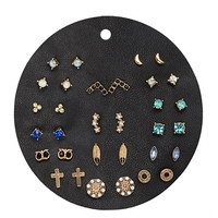Mixed Faux Gem Stud Set
