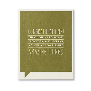 Congratulations Greeting Card - Congratulations! Through Hard Work,
