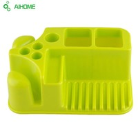 Plastic Bathroom Organizer Toothpaste Toothbrush Holder Soap Dish Rectangular Storage Holder for Cups