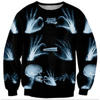 Womens Mens 3D Print Realistic Space Galaxy Animals Hoodie Sweatshirt Top Jumper bleached bones